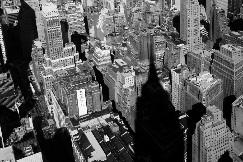 Vue depuis l'Empire State Building, NY